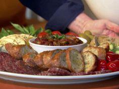 Antipasto Platter recipe from Ina Garten via Food Network Bruschetta, Fresco, Food Network Recipes, Cooking Recipes, Antipasto Platter, Food Wishes, Food Platters, Appetizer Recipes, Antipasto Recipes