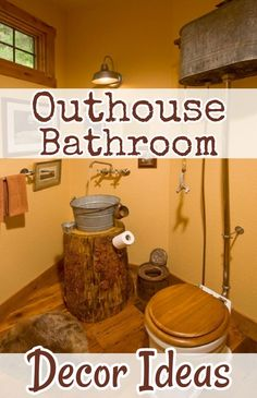 Country Outhouse Bathroom Decorating Ideas Decor