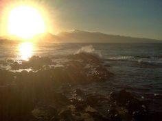 Watching the sunset at Ho'okipa
