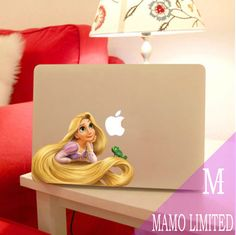 This colorful laptop sticker gives off an almost three-dimensional appearance. That hair! We have some experience with 3D stickers, by the way.