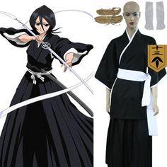 Bleach 13th Division Lieutenant Kuchiki Rukia Black Cosplay Costume Anime Products #Lovejoynet #cosplay