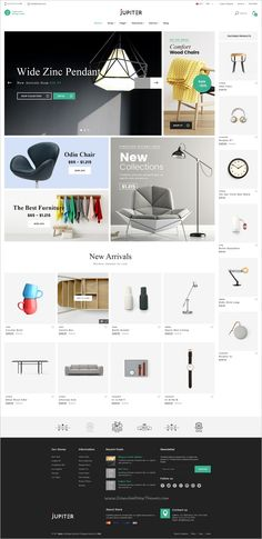 Jupiter is a clean and modern design #PSD template for #furniture #shop eCommerce websites with 4 homepage layouts and 11 organized PSD pages download now➩ https://themeforest.net/item/jupiter-furniture-ecommerce-psd-template/19179253?ref=Datasata