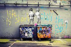 Original Leben ist kurze Schauer der Ente kein Banksy