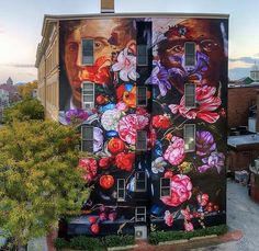 New mural by Gaia - 'Pronkstilleven' - for O+ Festival - Kingston, NY - Oct 2015 / Photo credit Andy Milford