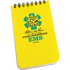 """3"""" x 5"""" Vital Stats EMS All-Weather Notebook"""