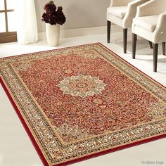 Allstar High-End Ultra-Dense ThicknessWeight Woven Traditional Persian. High Quality Area Rug