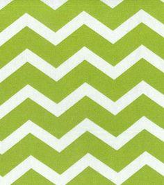 Home Essentials 45'' Print Fabric Chevron Green