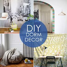 """Back to Campus: 10 Stylish DIY Dorm Decor Ideas Find great """"gently-used"""" furniture on Sara's List for your dorm room or college apartment!"""