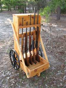 Amish Cowboy Wooden Five-gun Cart