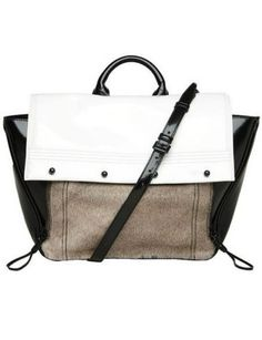 """50 Dream Handbags: 3.1 Phillip Lim Abichi Color Block Satchel// """"This bag! You have one of these baagss?! We could hawk that, and feed a whole third world country, you know!"""""""