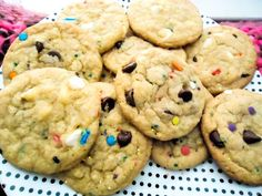 Cake batter chocolate chip cookies! cooking