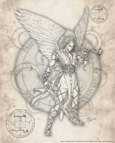 Archangel Gabriel: Messenger of God. The one who told Mary of her impending pregnancy. Gabriel is supposed to be the one who loves man or is closer to man than any of the other archangels, therefore when it is time to teach lessons, it's upon his shoulders that this burden falls.