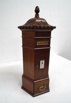 Antique Victorian style letter box.