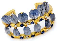 Suzanne Belperron Gold, Diamond and Sapphire bracelet, c. 1940