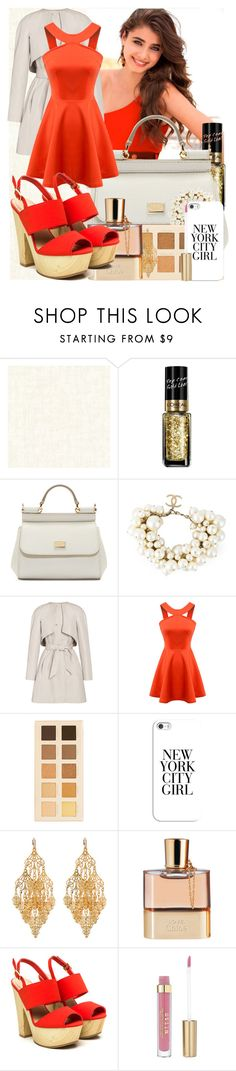 """""""Time of*"""" by maryterojasf ❤ liked on Polyvore featuring L'Oréal Paris, Dolce&Gabbana, Chanel, Martin Grant, LORAC, Casetify, Amrita Singh and Chloé"""