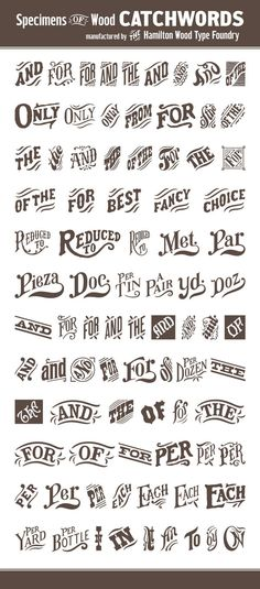 Wood Type Catchwords into Digital by P22 Type Foundry, via Behance