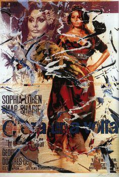 Mimmo Rotella, C'era una volta..., seridécollage, 70x100 cm Il seridécollage, con gli strappi fatti a mano, riproduce il manifesto del film diretto da Francesco Rosi nel 1967 e interpretato da Sophia Loren. Presenta la firma dell'artista in basso a destra, la sigla P. A. (prova d'autore) e il timbro della Fondazione Mimmo Rotella in basso a sinistra. http://milanoarte.biz/index.php/mimmo-rotella-544.html