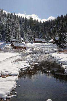 Alpine valley, Dunton Hot Springs, Colorado.