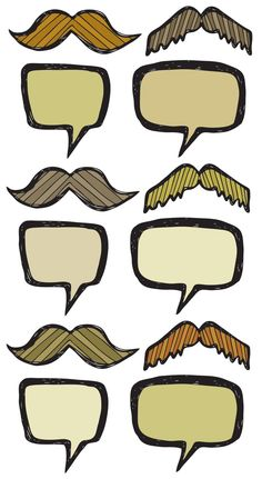 printable speech balloons and mustaches from elsie. she suggests cupcake toppers but I was thinking they could be used for photobooth or photoshop into a photo before printing or using as an avatar.