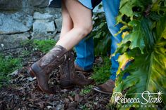 Engagement Session in Santa Cruz Girl in cowboy boots