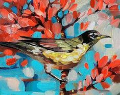 Bird oil painting original art, Birds art in frame, Colourful painting of birds, Painted Bunt bird mini picture, Small painting birdie Fabric Painting, Painting & Drawing, Original Paintings, Original Art, Mosaic Tile Art, Colorful Paintings, Colourful Art, Bird Paintings, Pastel