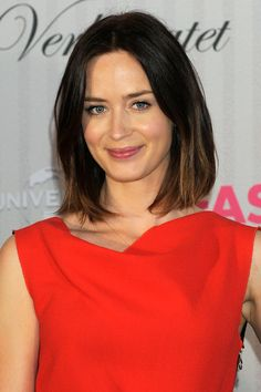 Emily Blunt- I'd be happy if I can get my hair to this length