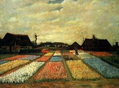 Vincent van Gogh - Flowerbeds in Holland, 1883