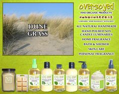 Dune Grass (Compare To Yankee Candle®) Product Collection - A crisp blend of bamboo leaf and lemon verbena intertwined with bergamot and lush orchid. #OverSoyed #DuneGrass #YankeeCandle #Candles #HomeFragrance #BathandBody #Beauty