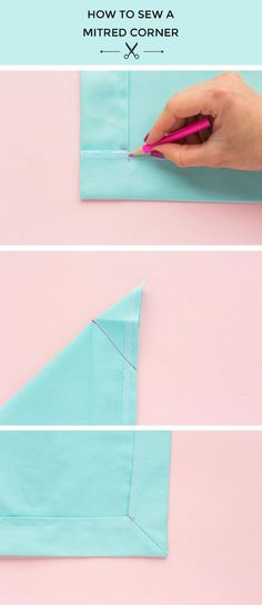 How to Sew a Mitred Corner | Tilly and the Buttons | Bloglovin'