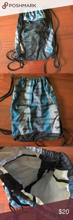 Under armour bag Like new! Blue, black, and gray bag Under Armour Bags Backpacks