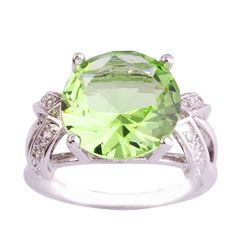 Empsoul 925 Sterling Silver Natural Novelty Plated 6.5ct Green Amethyst Topaz Wedding Ring -- Find out more details by clicking the image : Glitter Makeup