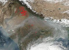 Dym nad územím Indie