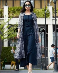 for this Tailer fit designer wear Dress Indian Style, Indian Fashion Dresses, Indian Designer Outfits, Indian Wear, Designer Dresses, Indian Outfits, Indian Gowns Dresses, Fashion Outfits, Shrug For Dresses