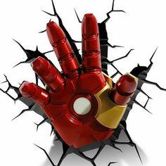 Luminária 3D Light FX Mão Homem de Ferro