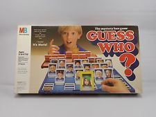 Vintage 1987 GUESS WHO? Boardgame Milton Bradley MB Mystery Face Game