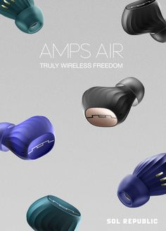 Introducing Amps Air from SOL REPUBLIC. Truly wireless headphones for a wireless world.