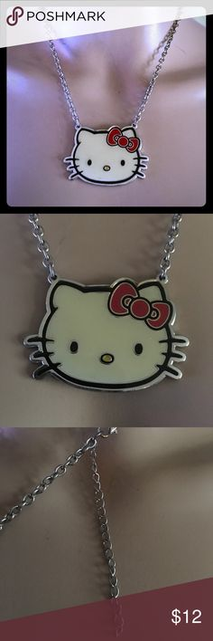 Hello Kitty necklace So cute! Silver tone. Hello Kitty Jewelry Necklaces