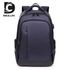 PBJ Waterproof Nylon Backpack Men Travel Backpack Multifunction Bags Male Laptop