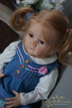 Reborn Doll Molly, made of limited Mold Frida sculptor Karola Wegerich.  #KarolaWegerich