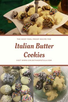 These Italian Butter Cookies Recipe can be either piped out or rolled out and cut into your favorite shape. Bear Cookies, Cake Mix Cookies, Shortbread Cookies, Yummy Cookies, Italian Butter Cookies, Butter Cookies Recipe, Delicious Cookie Recipes, Baking Recipes, Chocolate Cookies