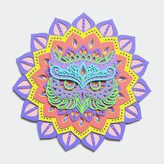 Paper Cutting Machine, Owl Head, Collars, Laser Art, Paper Cut Design, Cardboard Paper, Star Wars Toys, Layers Design, Mandala Art