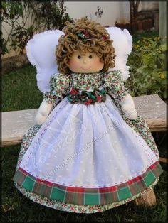 Anjo Menina Natal 30 cm