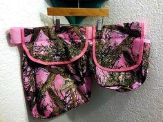 PINK CAMO shooting bag. $45.00, via Etsy.