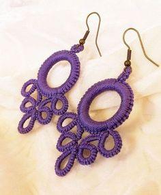 Colgantes – Crochet and Knitting Patterns Tatting Earrings, Tatting Jewelry, Beaded Jewelry, Handmade Jewelry, Jewellery, Crochet Earrings Pattern, Crochet Motif, Crochet Necklace, Crochet Patterns