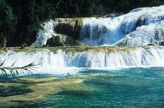 """For those who like adventure, after visiting the ruins of Tonina you can visit the waterfalls of Agua Azul, which are near Tumbalá, 64 kilometers from Palenque. Take a detour of about 5 miles and there are the """"Agua Azul Waterfalls"""", which are formed by the tributaries of the rivers Otulún, Tulijá Shumuljá and, thus maintaining the characteristic blue waters of this wonderful place."""