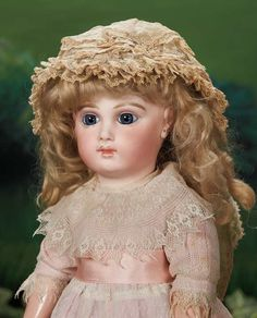 """French Bisque Early Model Bebe by Emile Jumeau,Size 8 19"""" (48 cm.)"""