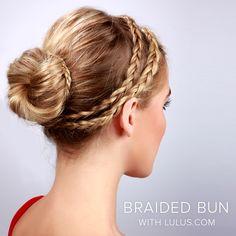 LuLu*s How-To: Double Braid Into Bun