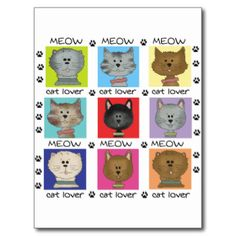 Nine adorable cat lives and personalities are reflected in this cute Meow Cat Lover T-shirt, mug, mousepad, stickers, and other items! #cat #cat #lover #meow #kitty #kitten #cat #gifts #cat #design #feline #animals #kids #child #childrens #toddlers #peacockcards #cats