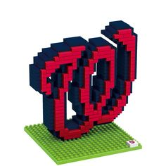Washington Nationals Puzzle 3D BRXLZ Logo Design Special Order