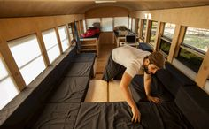 Architecture student modifies schoolbus for his Master's Thesis into incredibly function and versatile living space -- all in just 15 weeks and for under $9000.